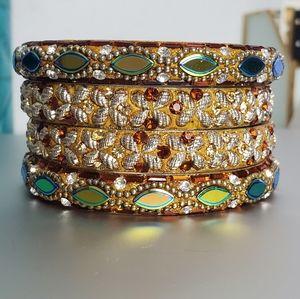 Anthropologie Jeweled Bangle Bracelets